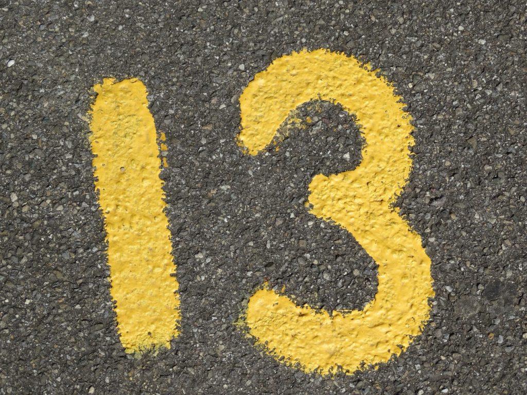 El número 13 y su mala fama